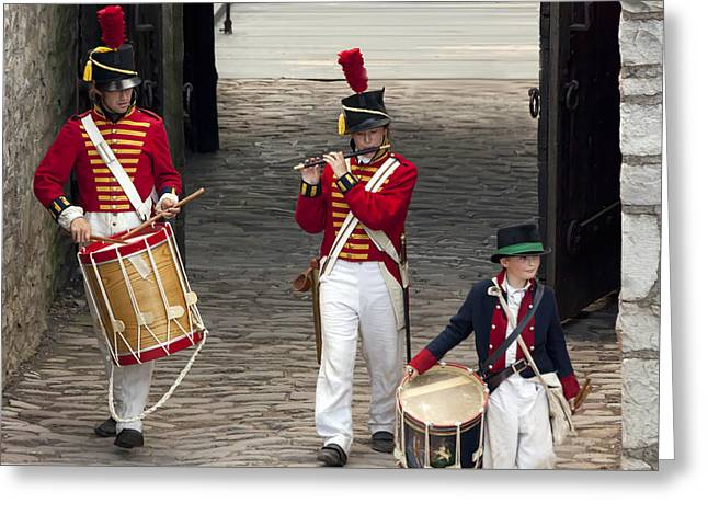 Fife And Drum Greeting Card by Peter Chilelli
