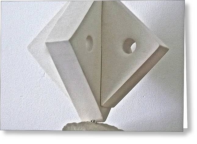 Growth Sculptures Greeting Cards - Fifth Chakra Swastika  Greeting Card by Frank Pasquill