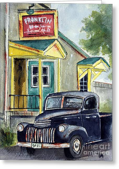 Franklin Tennessee Greeting Cards - Fifties Franklin Flashback Greeting Card by Tim Ross