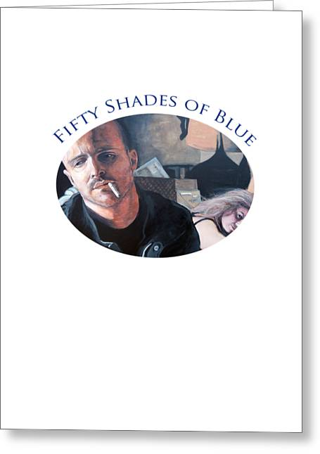 Fifty Shades Of Blue Greeting Card by Tom Roderick