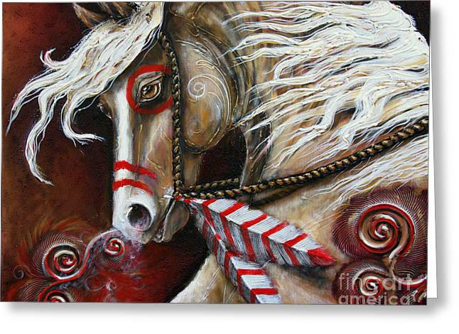Paso Fino Stallion Greeting Cards - Fight or Flight Greeting Card by Jonelle T McCoy