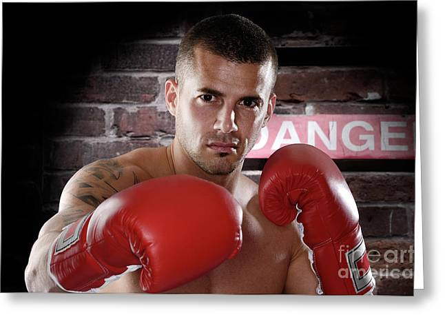 Kickboxers Greeting Cards - Fighter Greeting Card by Oleksiy Maksymenko