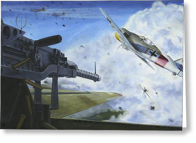 Propeller Paintings Greeting Cards - Fights On Greeting Card by David Gorski