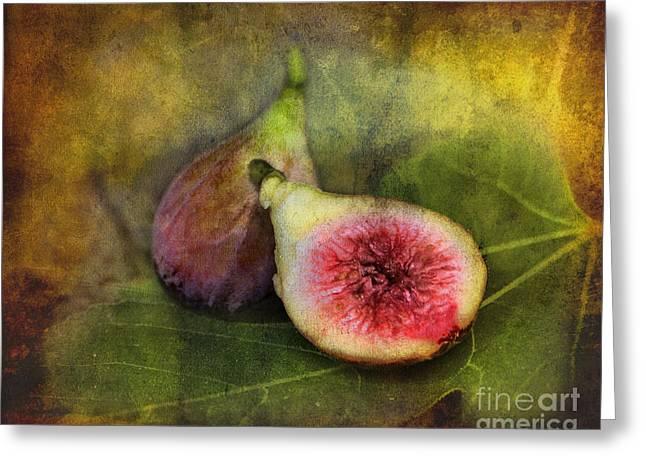 Figs Digital Art Greeting Cards - Figs Greeting Card by Sari Sauls