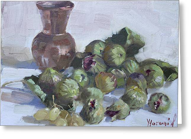 Copper Greeting Cards - Figs Greeting Card by Ylli Haruni