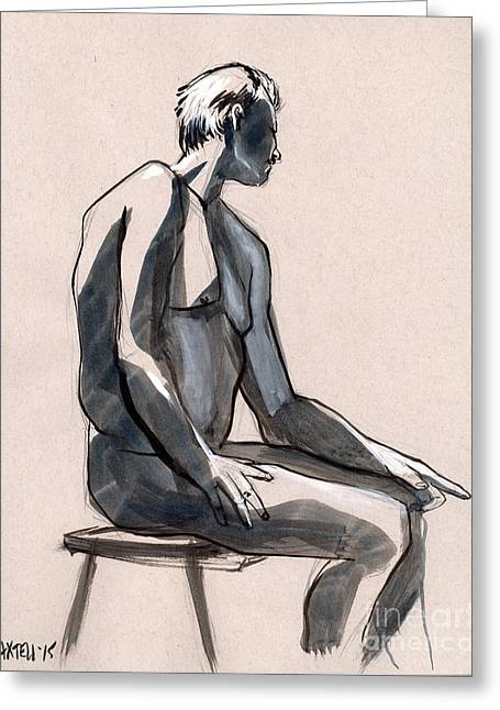 Life Line Drawings Greeting Cards - Figure 394 Greeting Card by Jason Axtell