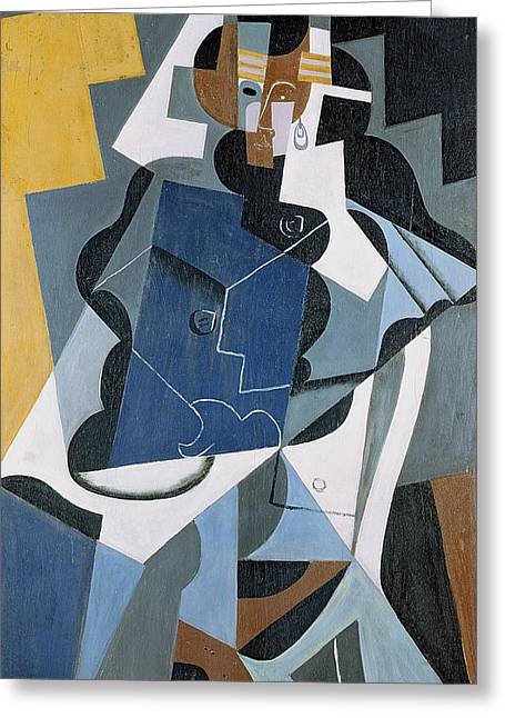 Cubist Greeting Cards - Figure of a Woman Greeting Card by Juan Gris