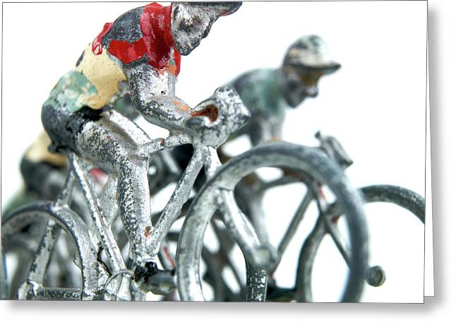 Pedals Greeting Cards - Figurines Greeting Card by Bernard Jaubert