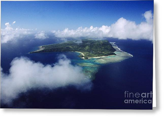 Fiji Aerial Greeting Card by Larry Dale Gordon - Printscapes