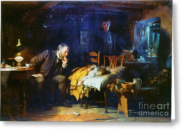 The Restricted Greeting Cards - Fildes The Doctor 1891 Greeting Card by Granger