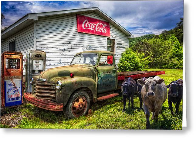 Fill 'er Up? Greeting Card by Debra and Dave Vanderlaan