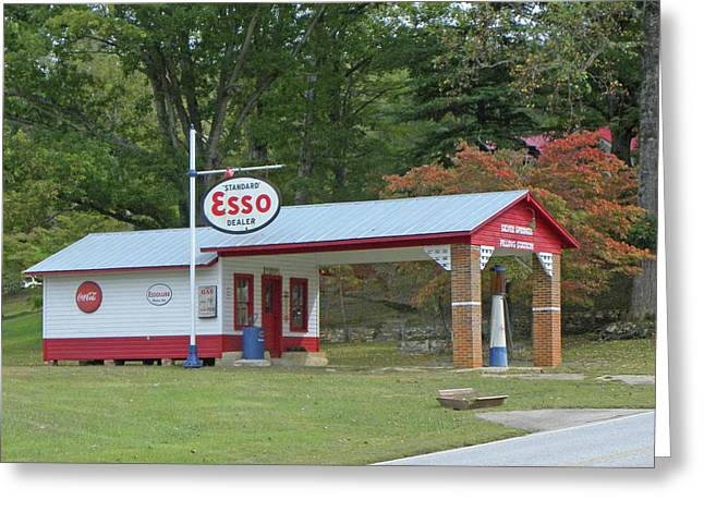 Best Sellers -  - Old Roadway Greeting Cards - Fill er Up Greeting Card by Larry Bishop