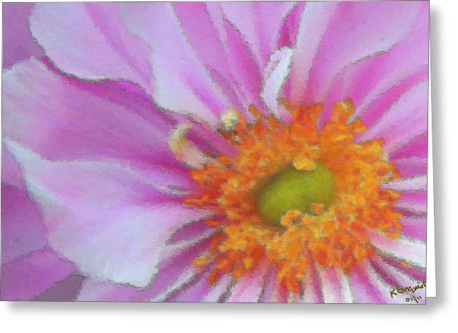 Asters Greeting Cards - Fill the Frame Greeting Card by Kristin Elmquist