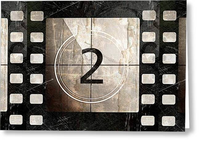 Camera Paintings Greeting Cards - Film Leader Countdown Greeting Card by Mindy Sommers