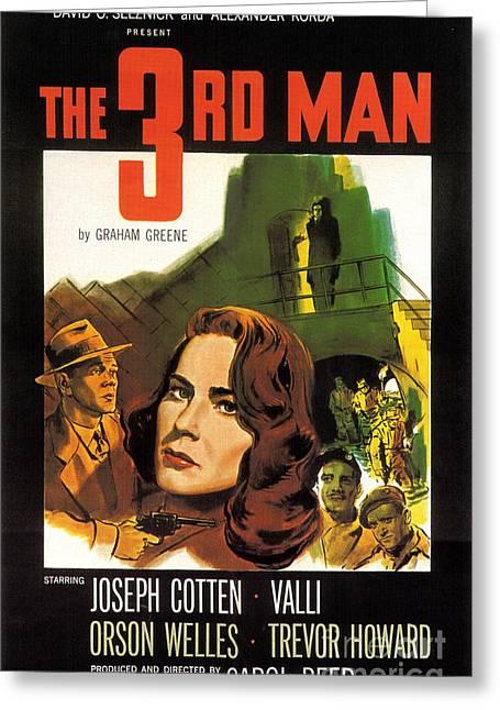 Film Noir Poster  The Third Man Greeting Card by R Muirhead Art