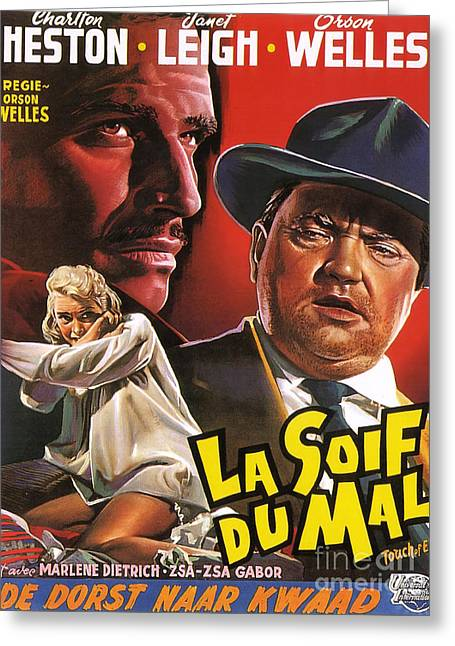 Film Noir Poster  Touch Of Evil Greeting Card by R Muirhead Art