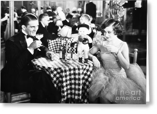 Ecromance Greeting Cards - Film Still: Eating & Drinking Greeting Card by Granger