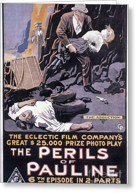 Posters Of Women Photographs Greeting Cards - Film: The Perils Of Pauline Greeting Card by Granger