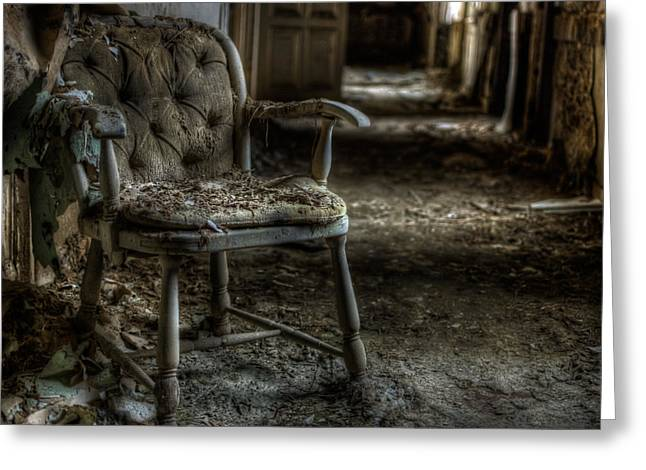 Empty Chairs Greeting Cards - Filthy comfort  Greeting Card by Nathan Wright