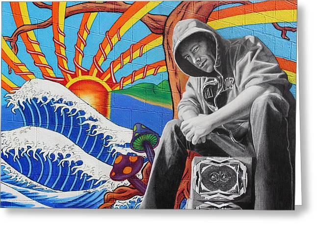 Graffiti Paintings Greeting Cards - Filthy Phill Greeting Card by Tim Dangaran