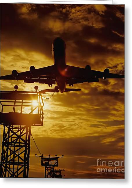Photographers Ellenwood Greeting Cards - Final Approach Greeting Card by Corky Willis Atlanta Photography