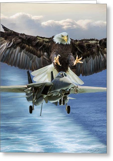 Final Approach Of Freedom Greeting Card by Peter Chilelli