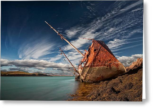 Ship-wreck Greeting Cards - Final Destination Greeting Card by Thorsteinn H. Ingibergsson