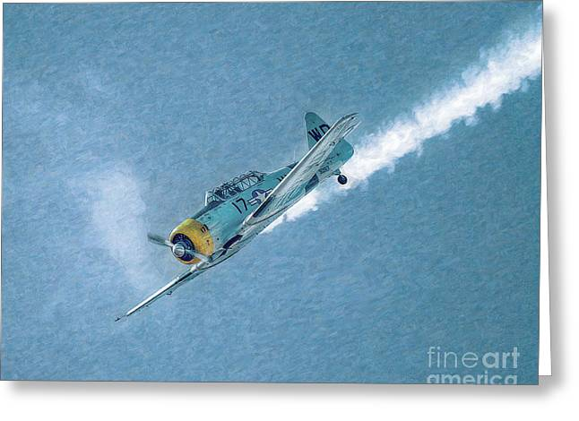U.s. Air Force Greeting Cards - Final Dive World War Two Airplane  Greeting Card by Randy Steele