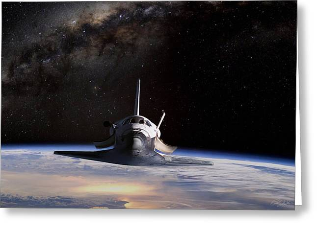 Nasa Space Shuttle Greeting Cards - Final Frontier Greeting Card by Peter Chilelli