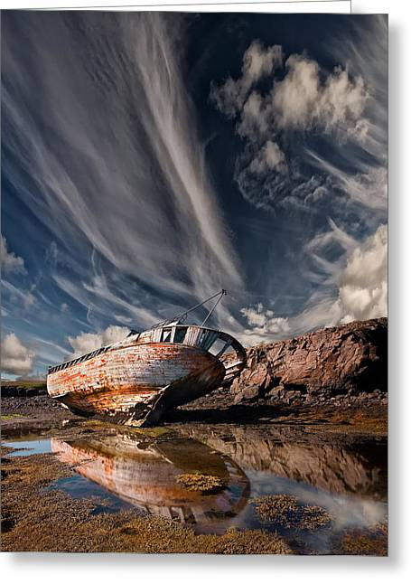 Ship-wreck Greeting Cards - Final Place Greeting Card by Thorsteinn H. Ingibergsson