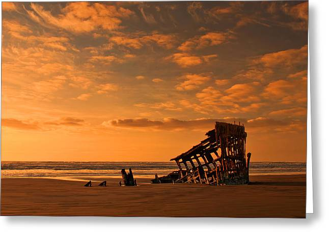 Beach Landscape Greeting Cards - Final Resting Place Greeting Card by Dan Mihai