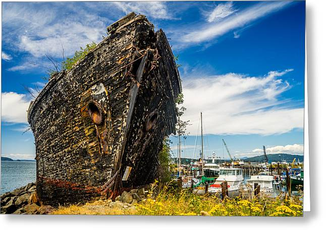Wooden Ship Greeting Cards - Final Resting Place Greeting Card by TL  Mair