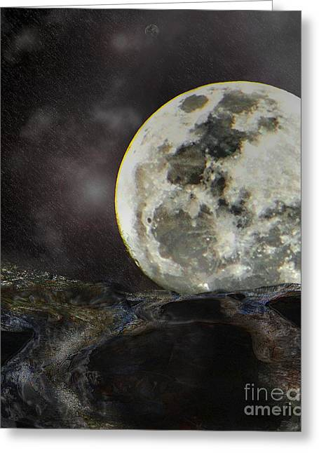 Luna Mixed Media Greeting Cards - Final standoff Greeting Card by Joe Russell