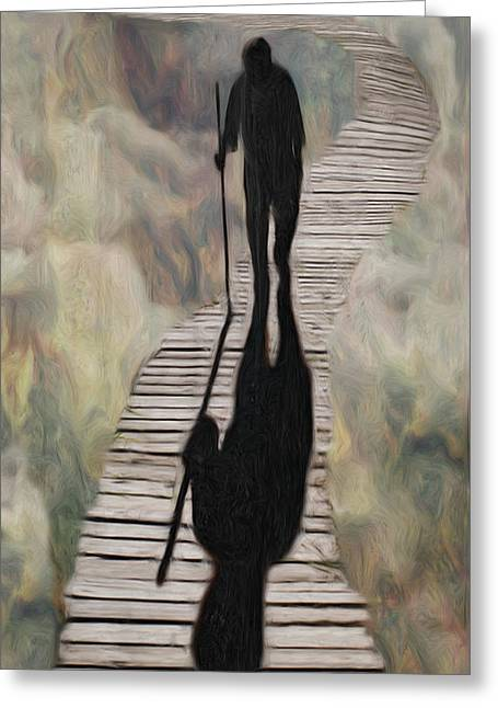 Disbelief Greeting Cards - Final Walk Greeting Card by Jack Zulli