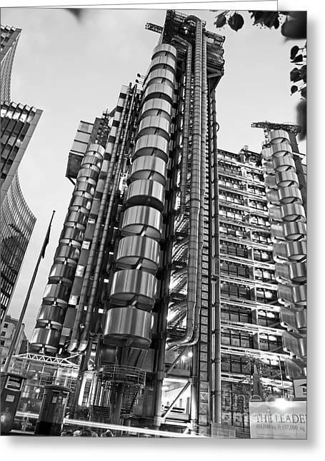 Great Architect Greeting Cards - Finance The Lloyds Building in the City Greeting Card by Chris Smith