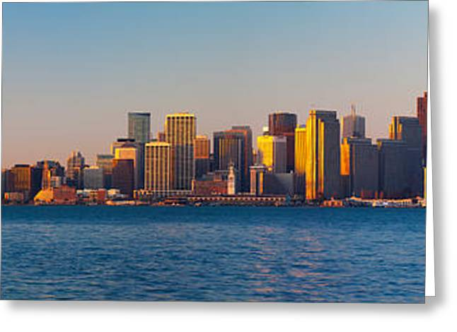California Ocean Photography Greeting Cards - Financial District And The Bay Bridge Greeting Card by Panoramic Images
