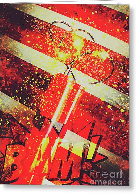 Financial Meltdown Coming Soon Greeting Card by Jorgo Photography - Wall Art Gallery