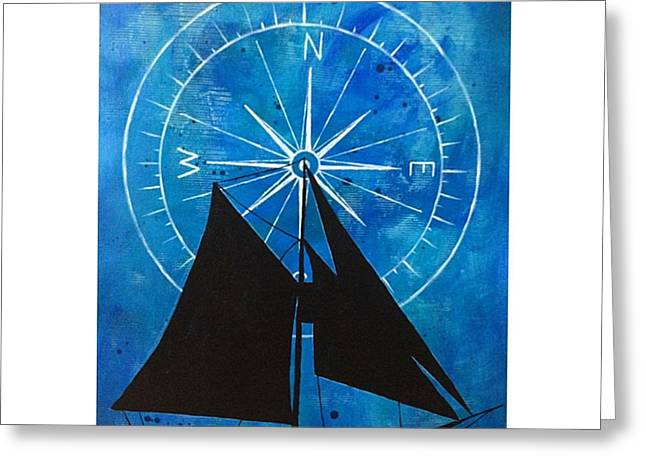 Ocean Sailing Greeting Cards - Find The Way Greeting Card by Syvanah  Bennett