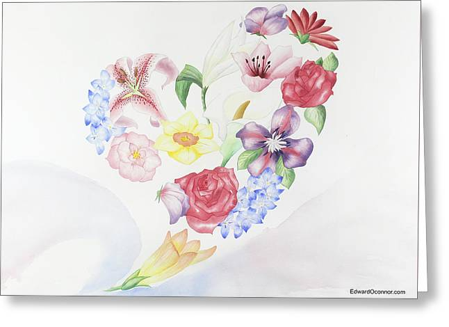 Find Your Heart Find Your Love Greeting Card by Edward O'connor