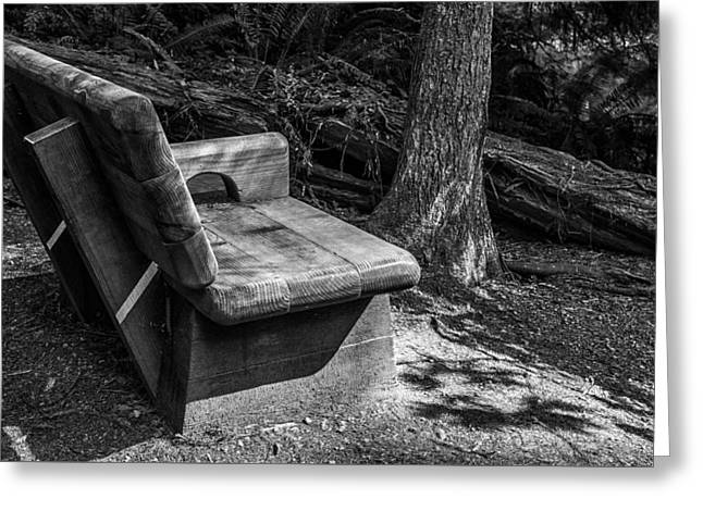 Empty Bench Greeting Cards - Find Your Way Greeting Card by Joseph S Giacalone