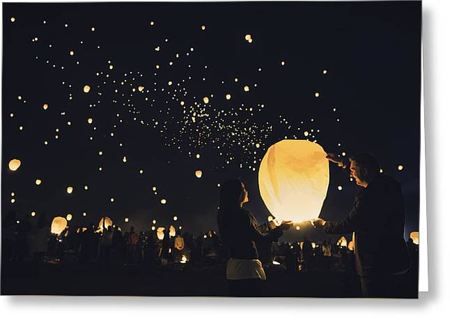 Candle Lit Greeting Cards - Finding love Greeting Card by Eduard Moldoveanu