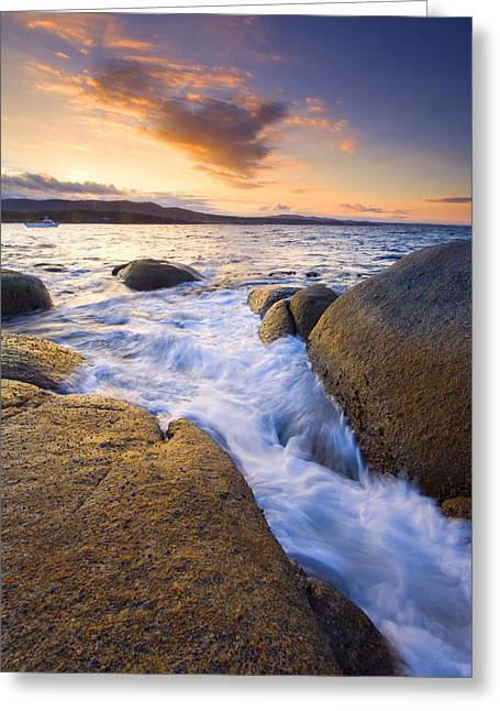 Fissure Greeting Cards - Finding the Seams Greeting Card by Mike  Dawson