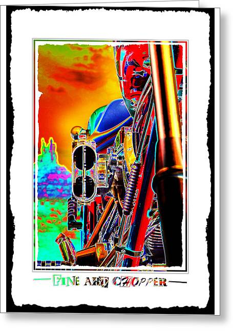 Color Poster Greeting Cards - Fine Art Chopper I Greeting Card by Mike McGlothlen