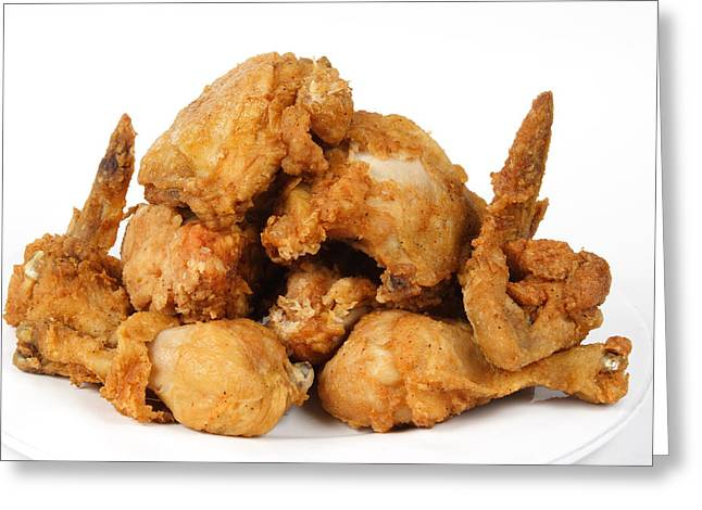 Art Product Greeting Cards - Fine Art Fried Chicken Food Photography Greeting Card by James BO  Insogna