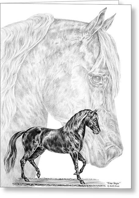 Kelli Drawings Greeting Cards - Fine Steps - Paso Fino Horse Print Greeting Card by Kelli Swan