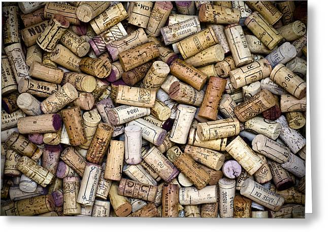 Alcoholic Greeting Cards - Fine Wine Corks Greeting Card by Frank Tschakert
