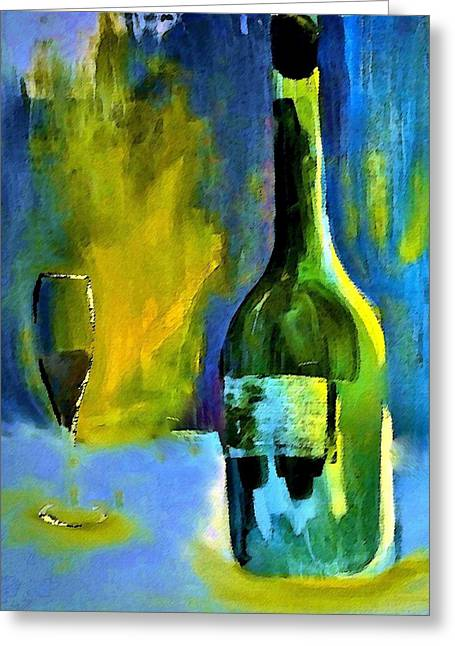 Beverage Greeting Cards - Fine Wine Glow Greeting Card by Lisa Kaiser
