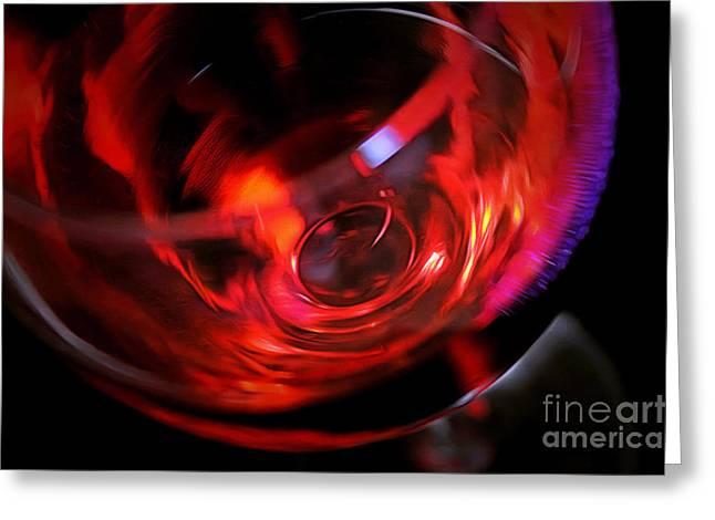 Fine Wine Greeting Card by Krissy Katsimbras