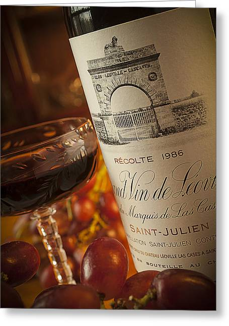 Saint Julien Greeting Cards - Fine Wine Greeting Card by Mark Peavy