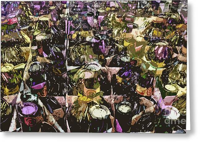 Box Wine Greeting Cards - Fine Wine Greeting Card by Ron Bissett